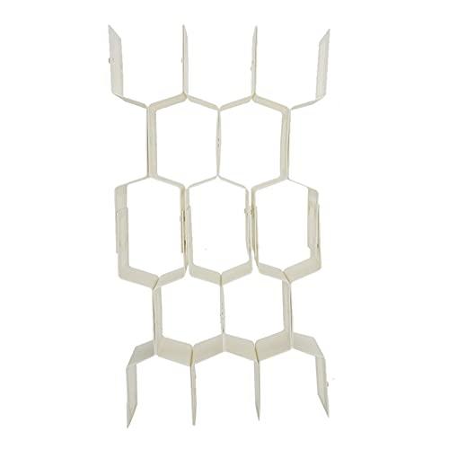 Emoshayoga Organizador de cajones duradero con separador de panal para ropa interior del dormitorio (beige)