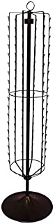 Floor Standing 108 Clips Black Finished Spinner Display Rack with Base