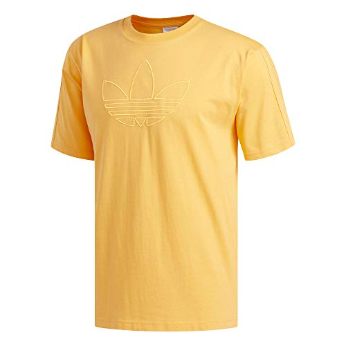 adidas Originals App Men Manga Corta, Flash Orange, Small para Hombre