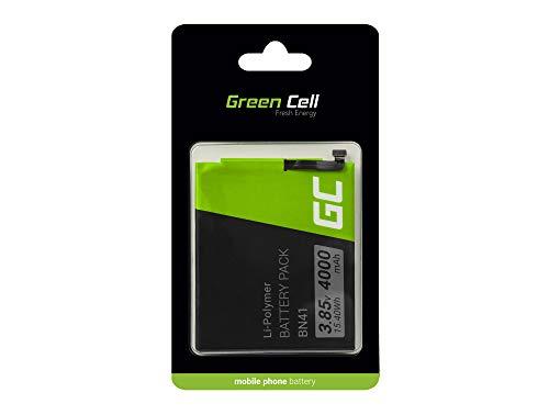 Batería Interna de Repuesto Green Cell BN41 Compatible con Xiaomi Redmi Note 4 | Li-Polymer | 4000 mAh 3.8 V | Batería de reemplazo para teléfono móvil del Smartphone | Recargable