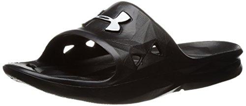 Under Armour UA B Locker III SL, Zapatos de Playa y Piscina Niños, Negro (Black//Metallic Silver (001) 001), 40 EU