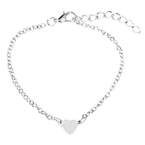 Pulseras para niñas y mujeres minimalistas amor corazón pulsera pulsera pulsera joyería regalo día de San Valentín