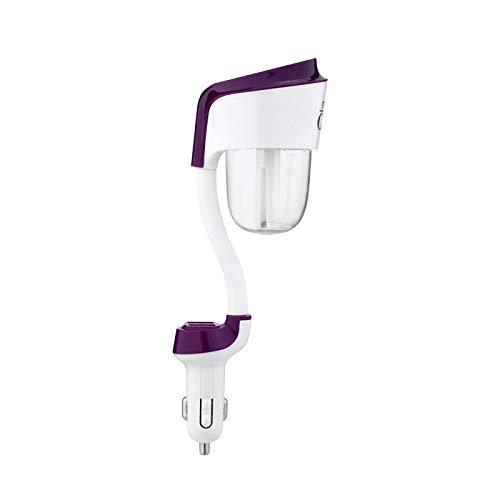 Humidificador 12V Coche Aromaterapia Difusor de Aire Humidificador Portátil Humidificador de Aire Difusor de Aroma Difusor de Niebla Fabricante Ultrasónico Difusor de Aroma Morado