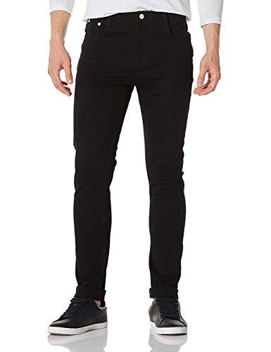 Demon&Hunter 808 Serie Jeans Herren Skinny Jeans Zerrissene Jeans Schwarz DH8020(28)