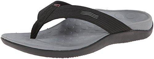 Vionic Unisex Wave Toe Post Sandal, 6 B(M) US Women / 5 D(M) US Men, (Black)