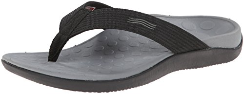 Vionic Unisex Wave Toe Post Sandal, 13 B(M) US Women / 12 D(M) US Men, (Black)