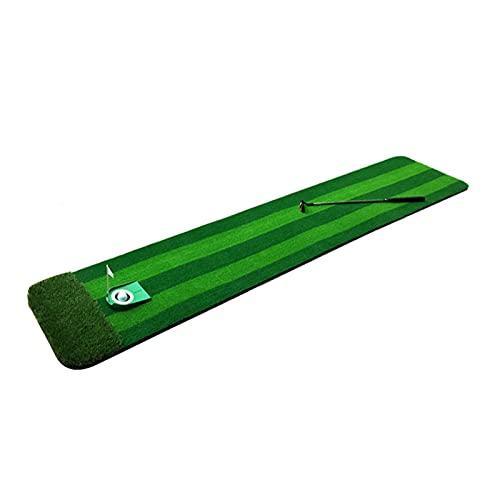 Limuchen Plegable Entrenador de Golf Interior Que Pone Estera, colchonetas portátiles de práctica de Golf para Patio Trasero, Golf al Aire Libre Interior Putting Fairway Verde Estera Portátil