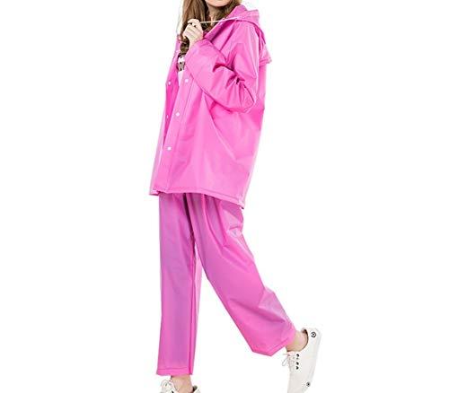 LNLW Outdoor volwassen dames regenjas Light ademend Suit Split (Color : Pink, Size : L)