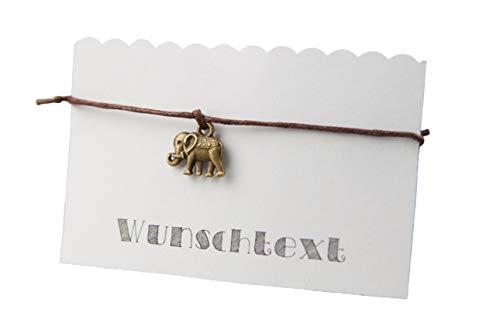 Armband Elefant - Hochzeit, JGA, Freundschaft, Gastgeschenk - diverse Farben