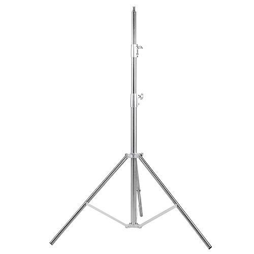 Fomito Nicefoto LS-280S - Supporto per luce in acciaio INOX a 3 sezioni, resistente, per softbox, monolight e altre attrezzature fotografiche (argento)