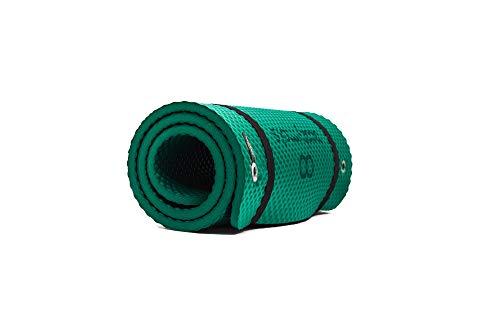 Bootymats Pilates Pro - Esterilla de Gran tamaño Ideal para Ejercicios de Pilates de Suelo. Extra Acolchada. Máximo Confort y Comodidad. Medidas: 180 x 60 cm. Grosor: 19 mm. Color: Verde