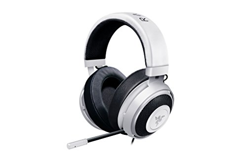 Razer Kraken Pro V2: Lightweight Aluminum Headband - Retractable Mic - In-Line Remote - Gaming Headset Works with PC, PS4, Xbox One, Switch, & Mobile Devices - White