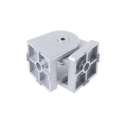 XINGFUQY Conector de la Junta Flexible de la bisagra Flexible de la aleación de Zinc Fit para el Perfil de extrusión de Aluminio E5BE (Color : 4040S)