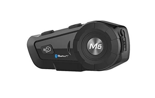 XYBH Xybhjxb Casco de Motocicleta Walkie-Talkie Auriculares inalámbricos Bluetooth Walkie-Talkie con Radio FM Auriculares Suaves (Color : Black)