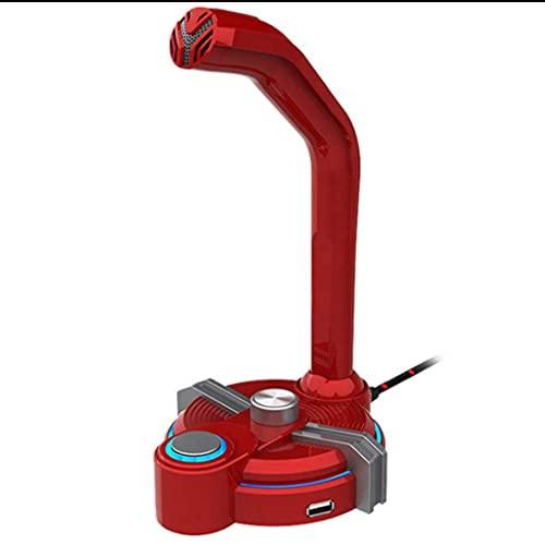 BAIYAN MICS para Juegos de computadora, Ordenador Personal Mic omnidireccional USB / 3. 5 mm Jack Plug Play para Dictado, grabación, Llamada de Conferencia, con DIRIGIÓ Indicador, Rojo (Color : Red)