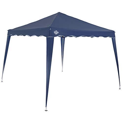 Deuba Pavillon Capri 3x3m wasserdicht Pop-Up inkl. Tasche UV-Schutz 50+ Faltpavillon Gartenzelt Partyzelt Blau
