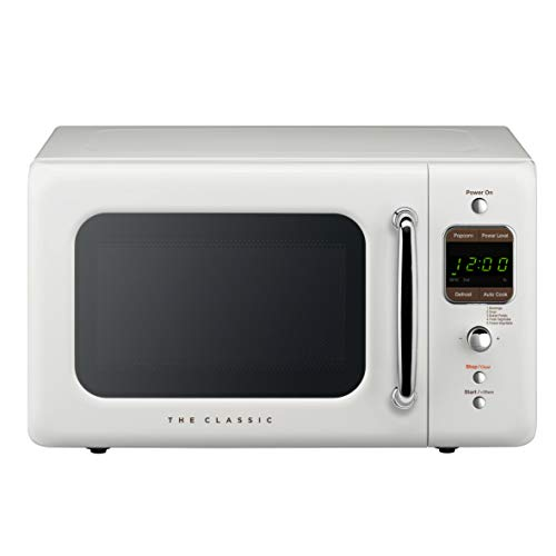 WINIA WOR07R2ZEW Retro Microwave Oven, 0.7 Cu Ft, White
