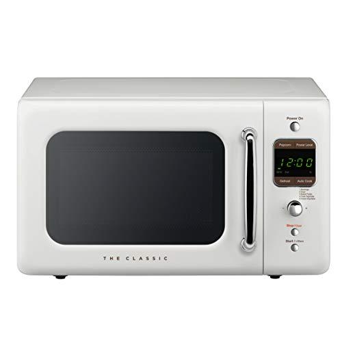 WINIADAEWOO ELECTRONICS WOR07R2ZEW Retro Microwave Oven, 0.7 Cu Ft, White