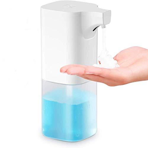 Wimaha Dispenser di Sapone Automatico touchless sensore di Movimento a infrarossi, Dispenser di Sapone Liquido Impermeabile IPX3 per Bagno, Kithcen e Hotel, Bianco 350ML