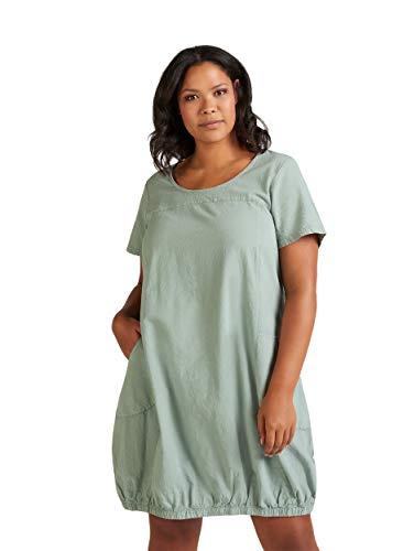 Zizzi Damen Große Größen Baumwoll Kleid mit kurzen Ärmeln Gr 42-56