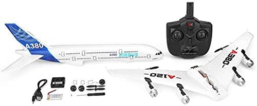 Zhiqu-NB Aereo telecomandato, A120-A380 Airbus -Six Axes 2.4 GHz 3CH RC Drone Plane, aeromodello ad Ala Fissa, Aereo in Schiuma telecomandato