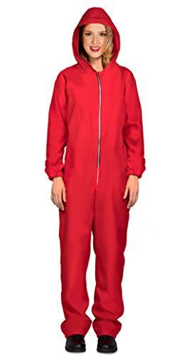 FIESTAS GUIRCA Traje House Card Traje Rojo con Capucha Mujer