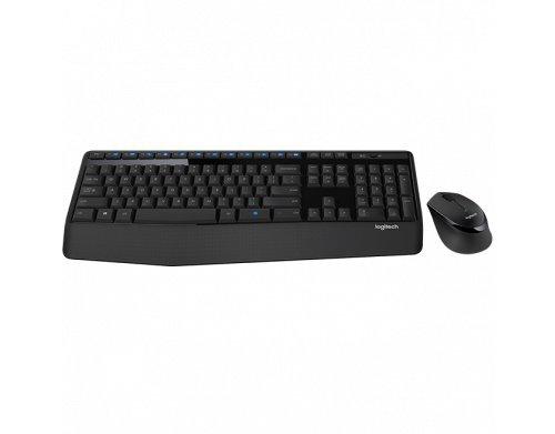 Combo Teclado e Mouse sem fio Logitech MK345 com Teclado com Apoio para as Mãos e Mouse Destro - Conexão USB, Pilhas Inclusas e Layout ABNT2