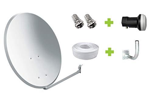 Kit Antena Parabólica GI 60 cm + LNB + Soporte + 20m Cable coaxial