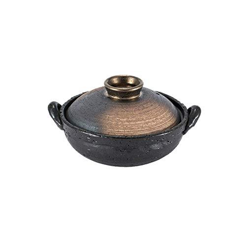 SQQSLZY Olla para estofados, Cazuela, cazuela con Tapa, cazuela de Arcilla, cazuela de Arcilla Redonda/pote, Fuego Abierto para el hogar (Size : 2000ML)