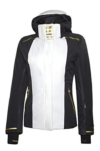 Rh+ IND2849 017L Zero W Jacket Dames Wit/Zwart/Goud, L