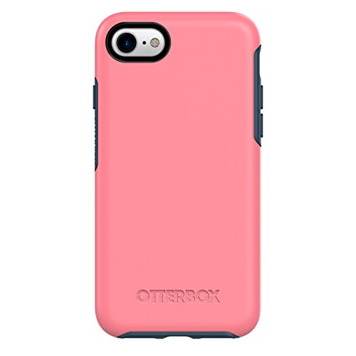 OtterBox SYMMETRY SERIES Case for iPhone 8 & iPhone 7 (NOT Plus) - Retail Packaging - SALTWATER TAFFY (PIPELINE PINK/BLAZER BLUE)