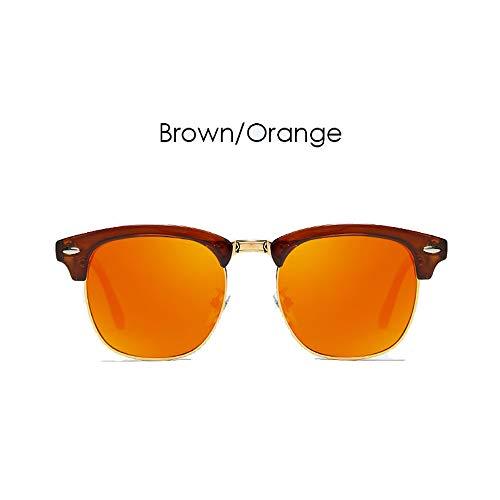 LDQLSQ mannen en vrouwen met hetzelfde type rijstnagel gepolariseerde zonnebril 3016 Retro klassieke kleurrijke rijden spiegel zonnebril