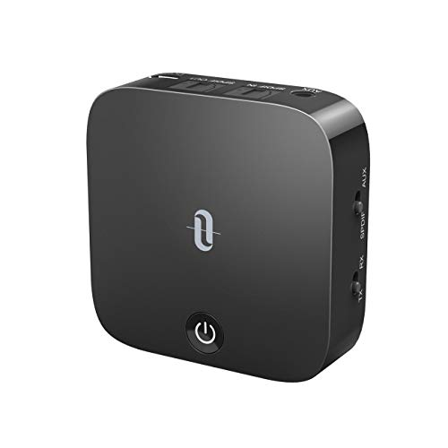 TaoTronics TT-BA09 Bluetooth Transmitter, Receiver, Aptx-LL, Low Latency, Bluetooth 5.0, Receiver, 15 Hours Playtime, Connects 2 Devices Simultaneously, Can Be Used While Charging, 2 in 1, Small
