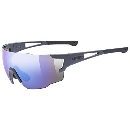 uvex Unisex– Erwachsene, sportstyle 804 Sportbrille, grey mat/blue, one size