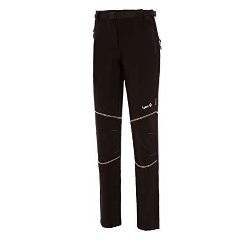 IZAS Formosa Pantaloni Elasticizzati, Donna, Nero/Nero, L