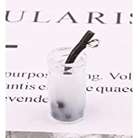 LLBBSS 10 ピース/パックミルクドリンクジュースクリスタルガラスボトルチャーム diy クラフトフィットブレスレットイヤリングアクセサリー手作り 10 × 27 ミリメートル