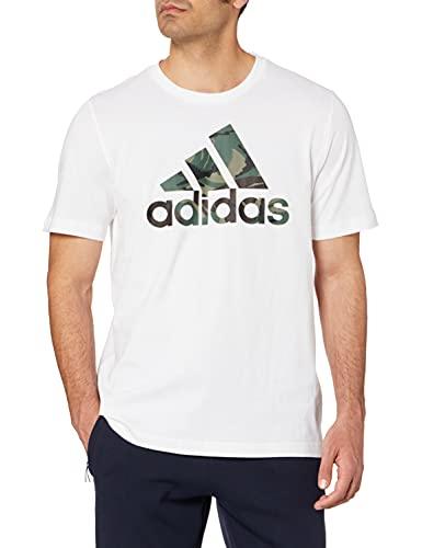 adidas GK9635 M Camo T T-Shirt Uomo White/Legacy Green L