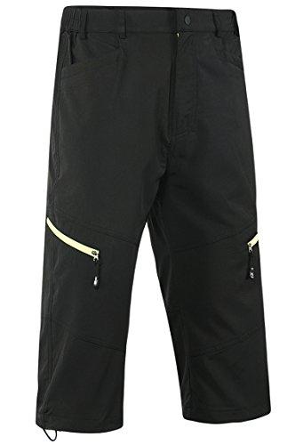 Lovache Herren Radhose 3/4 MTB Radsport Shorts Atmungsaktive Wasserdicht Outdoor Fahrradshorts mit Reißverschluss - 3