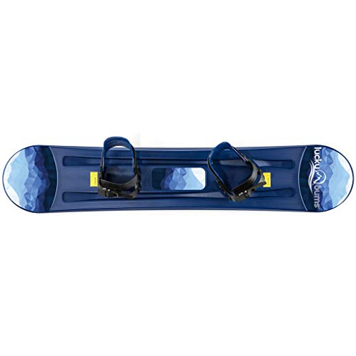 Lucky Bums Kids Boys Girls Youth Training Plastic Snowboard, 120cm, Blue