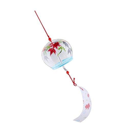 MagiDeal Campanas de Viento de Cristal Impresas Estilo Japonés Jardín Decoración Del Hogar Campanas de Viento 7x8cm - tal como se describe, 3#