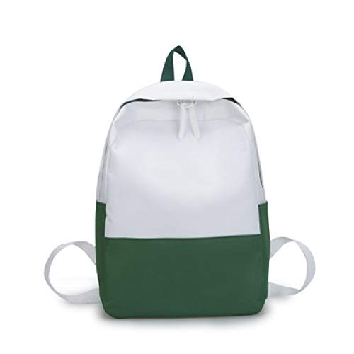2019 Nueva Mochila Minimalista Sen Collision Color College Wind Junior High School Estudiante Bolsa Mochila De Lona De Gran Capacidad 2 27 * 14 * 37Cm