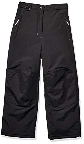 Amazon Essentials Boys' Water-Resistant Snow Pants, Black, Large
