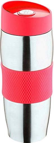 Praknu Thermobecher Kaffeebecher Edelstahl 400ml Rot | Auslaufsicher Spülmaschinenfest | Isolierbecher Kaffee To Go Becher