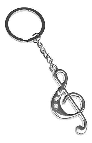 Schlüsselanhänger, schmuck Taschen violinschlüssel Musik aus Stahl chromiert