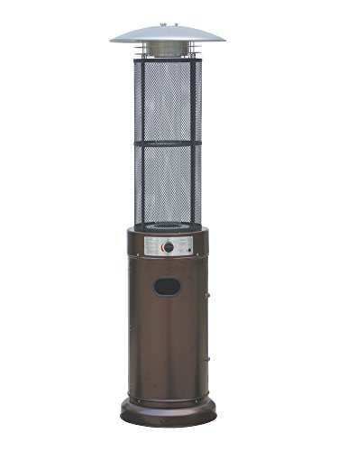BELLEZE 014-HG-PH40-BRO Outdoor Patio Heater Circle Round Pyramid Commercial Glass Tub, Bronze