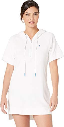 Polo Ralph Lauren Damen Frottee Hoodie Kleid - weiß - X-Small