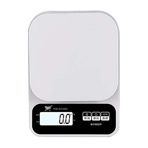 Balance de cuisine - plastique ABS, écran rétro-éclairé, petite balance électronique multifonctions pour la maison et étanche - 2 sortes (Couleur : Battery, taille : 5kg)