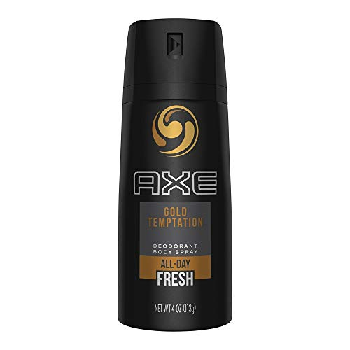 (PACK OF 6 CANS) Axe GOLD TEMPTATION Body Spray Antiperspirant & Deodorant. 48 HOUR ODOR PROTECTION! Energized & Fresh! (6 Cans, 4oz each Can)