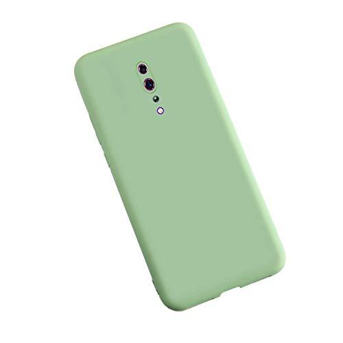 XunEda Funda para OPPO Reno Z, Ultra Ligero Funda Suave Caso Silicona Liquida Carcasa Protectora Case Cover para OPPO Reno Z Smartphone(Verde Matcha)