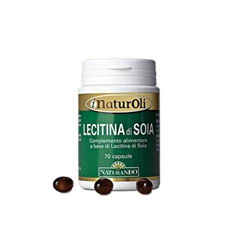 Naturando Olio di Lecitina di Soia 70 Perle per un Apporto Naturale di Omega3